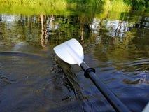 Kayaking w rzece Zdjęcia Stock