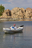Kayaking Watson Lake Royalty Free Stock Photo