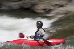 Kayaking on whitewater Stock Photo