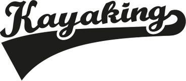 Kayaking word retro. Vector sports Stock Photos