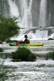 Kayaking on the Zrmanja river. In Croatia royalty free stock photos