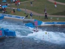 Kayakingsconcurrentie bij 2012 Olympics van Londen Royalty-vrije Stock Foto