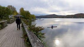 Kayakingsmeer Massawippi, het Noorden Hatley, Quebec Royalty-vrije Stock Foto