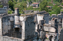 Kayakoy, ghost town in Turkey Stock Images