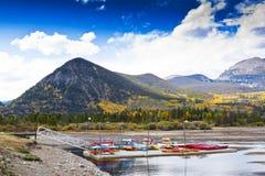 kayaks гавани Стоковые Фотографии RF
