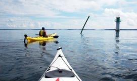 kayaks маяк Стоковые Изображения RF