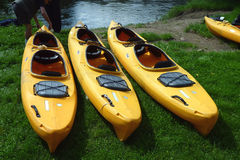 Kayaks Royalty Free Stock Photos