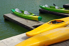 Kayaks Stock Photography