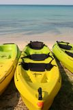 Kayaks. On the Siam Beach (Koh Kood, Thailand Stock Photos