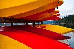 Kayaks Photos libres de droits