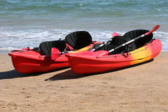 Kayaks Royalty Free Stock Photography
