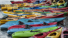 Kayaks Photo stock