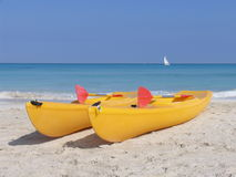 Kayaks Royalty Free Stock Image