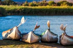 Kayaks Photographie stock