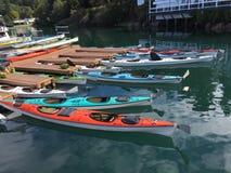 Kayaks au port de vendredi Images stock