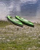 Kayaks on the Bank Stock Photography