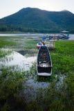 Kayaks, bateau Photo stock