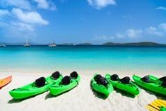 Kayaks at beach Royalty Free Stock Photography