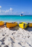 Kayaks on beach Royalty Free Stock Photo