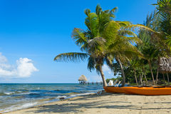 Kayaks at the beach Royalty Free Stock Photos