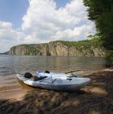 Kayaks at Bon Echo Cliffs Royalty Free Stock Photos