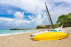 Kayaks and catamarans at Varadero beach in Cuba Stock Image