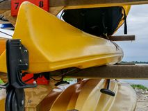 Kayaks close up outdoor in day time Royalty Free Stock Photography