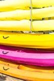 Kayaks closeup Royalty Free Stock Images