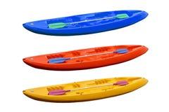 Kayaks colorés Photos stock