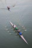 Kayaks on Colorado river Stock Photo