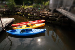3 kayaks Royalty Free Stock Images