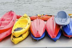 Kayaks Stock Photography