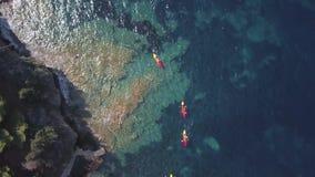 Kayaks d'air banque de vidéos