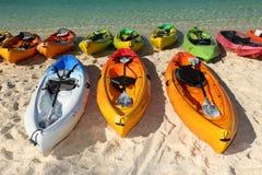 Kayaks de mer Photographie stock libre de droits