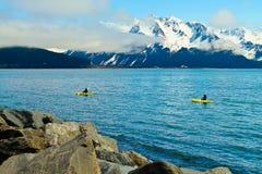Kayaks de mer image stock