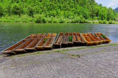 Kayaks on Dunajec. In Europe Stock Photo
