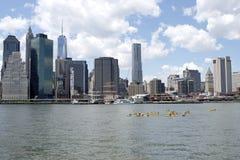 Kayaks on East River Stock Image