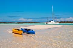 Kayaks et catamaran Photos libres de droits