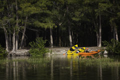 Kayaks in the Great Outdoors Stock Images