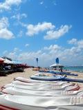 Kayaks. Kayak for rental on pandawa beach Bali Indonesia royalty free stock photos