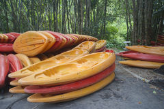 Kayaks la barca Fotografie Stock
