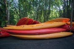 Kayaks la barca Fotografia Stock Libera da Diritti