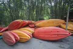 Kayaks la barca Immagini Stock Libere da Diritti
