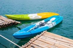 Kayaks on the lake Royalty Free Stock Photos