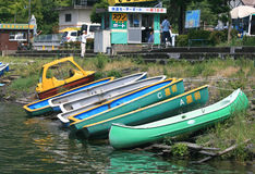 Kayaks and Pedal Boats for Rent Royalty Free Stock Images