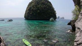 Kayaks at Phi Phi Islands stock video