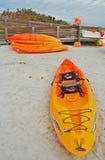 Kayaks pour le loyer, île la Floride de lune de miel Photos libres de droits