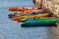 Kayaks at the Ready Royalty Free Stock Photos