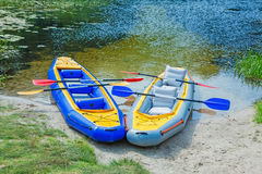Kayaks Ready to be Used Stock Image
