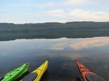 Kayaks Reflection Stock Image